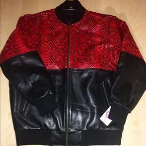 Earlybirds leather bomber jacket